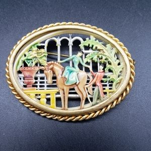 Jewelry - Antique Depose-France Celluloid Silhouette Brooch